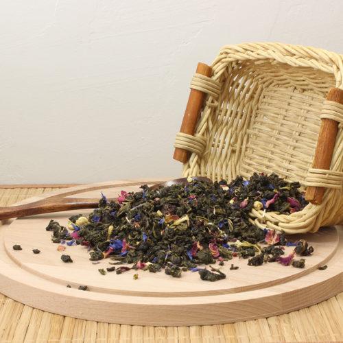 Элитный китайский улун зеленый чай с добавками Сказки Шахерезады с арматом вишни и карамели