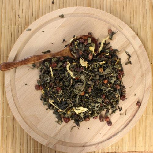 Китайский зеленый чай с добавками Мишки Гамми.